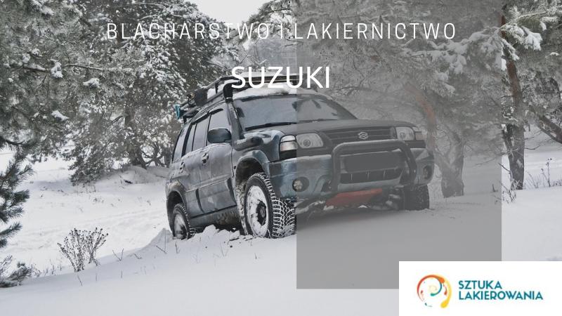 Naprawy powypadkowe Suzuki - lakiernik, blacharz do Suzuki w Sztuka Lakierowania, Warszawa, Białystok, Ełk